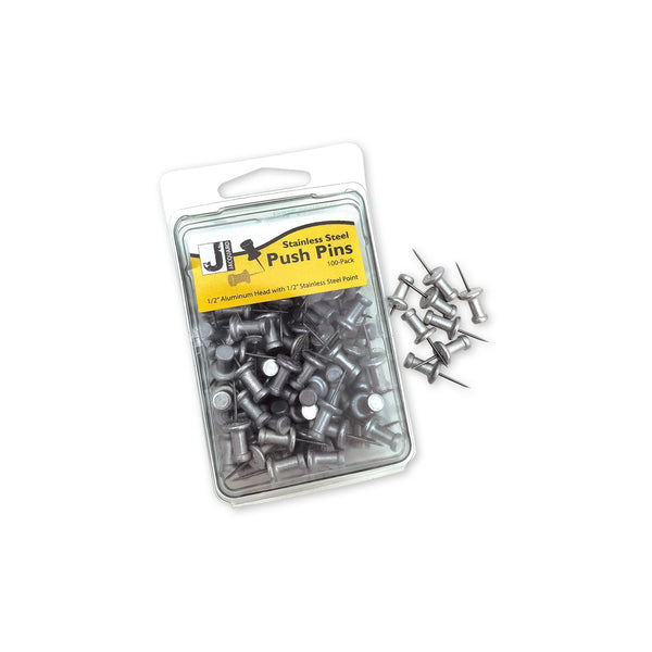 Stainless Steel Push Pins (100 ct)