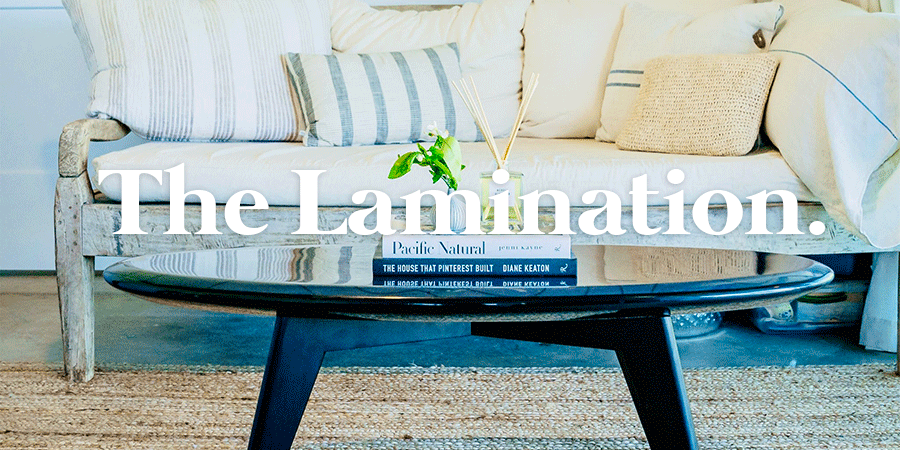 Surfboard Coffee Table - The lamination