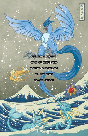 The Great Wave off Kanto: Articuno Print