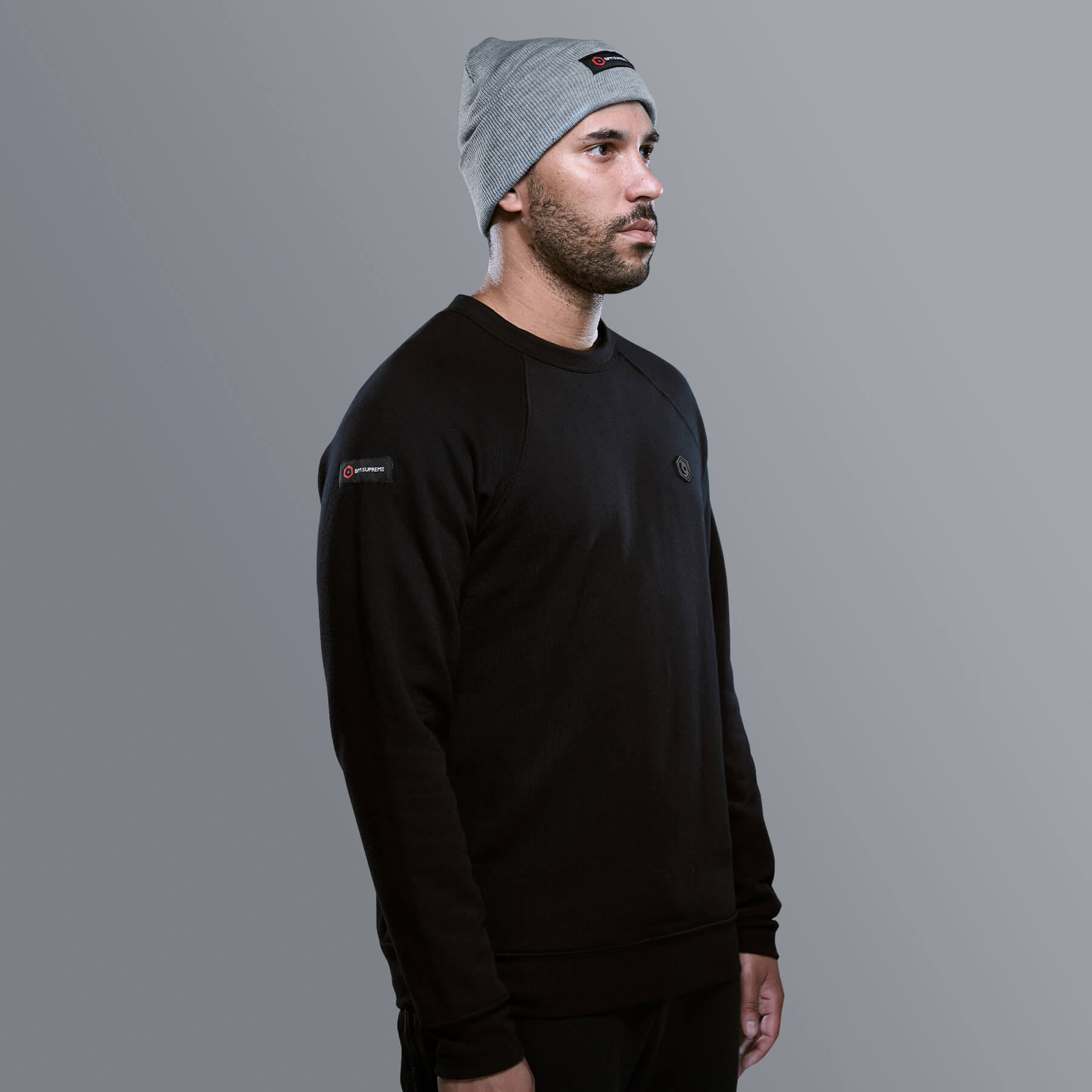 PVC Patch Crewneck | Black