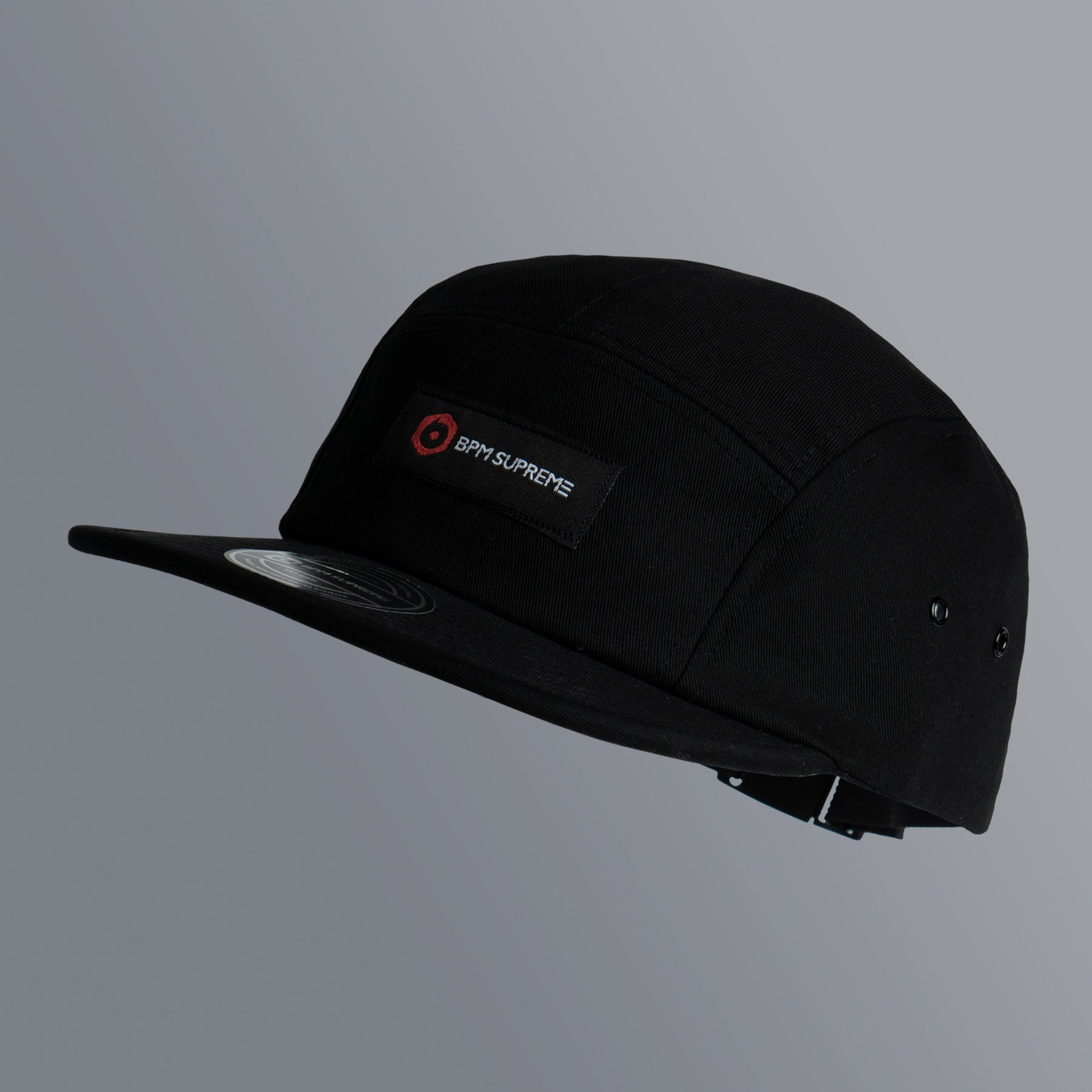 fff2f9e1a13d85 BPM Supreme 5 Panel Label Logo | Black – BPM Supply