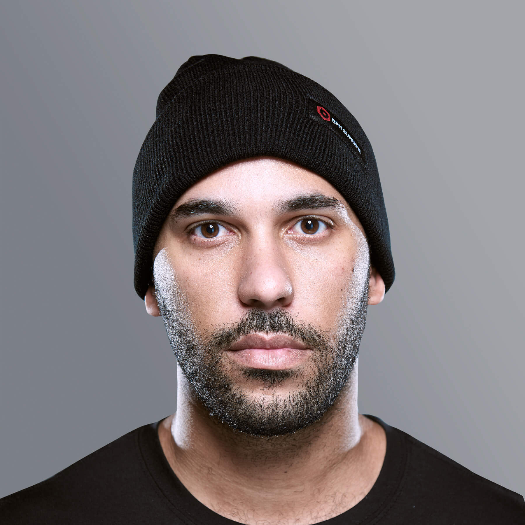 Black Label Beanie | Black