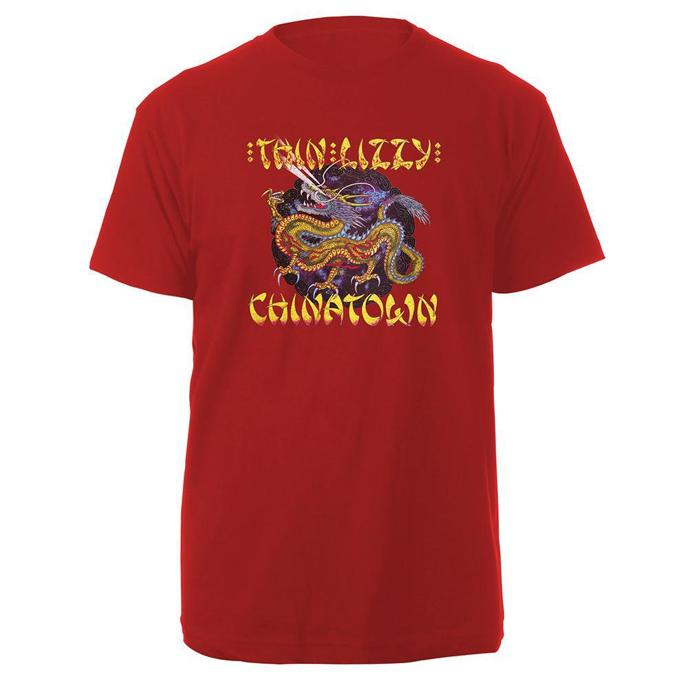 Chinatown Red Mens T-shirt-Thin Lizzy