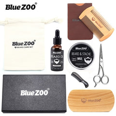 8pcs/set Men Beard Kit