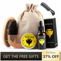 6pcs/set Men Barba Beard Kit