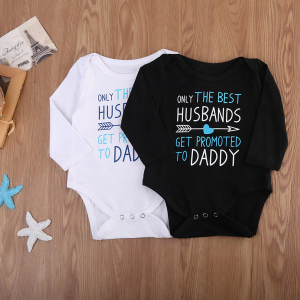 'Only The Best Husbands Get Promoted To Daddy' Onesie