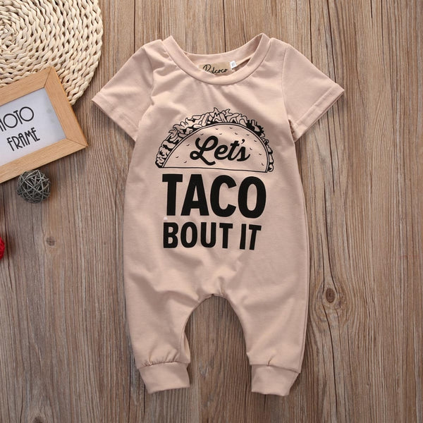 "'Let's Taco Bout It"" Onesie"