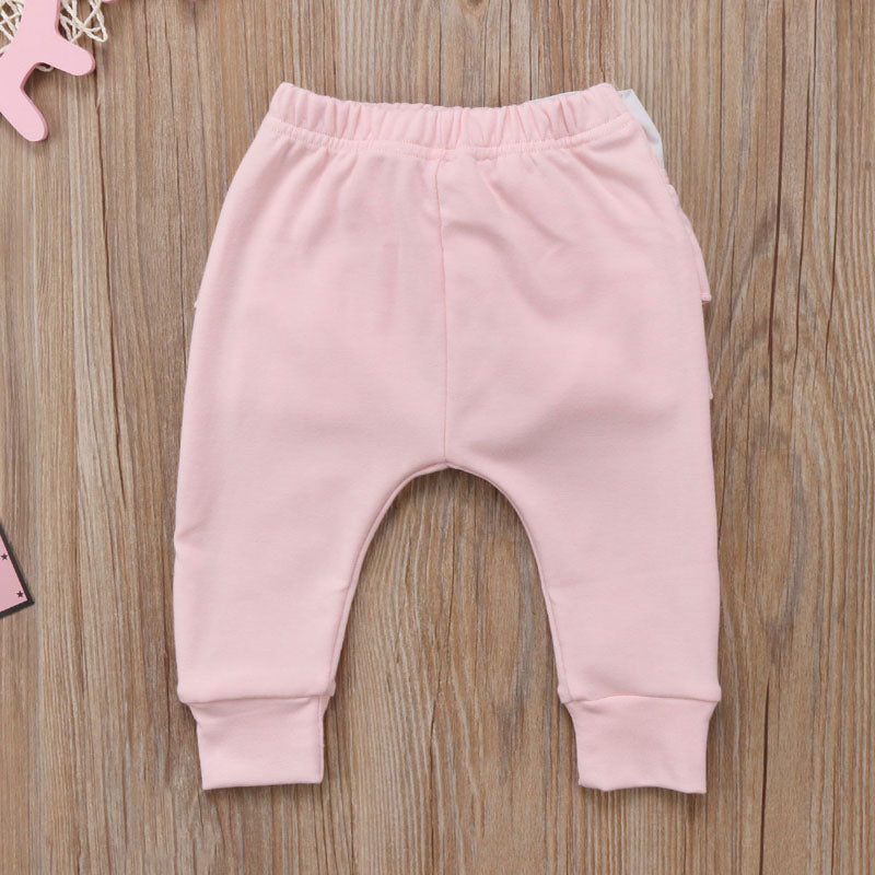 Ruffle Bottom Bow Leggings