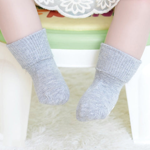 Solid Non-Slip Newborn/Toddler Socks