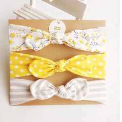 Printed Baby Girl Elastic Headband Sets