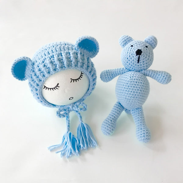 Baby Crochet Bear and Hat Set
