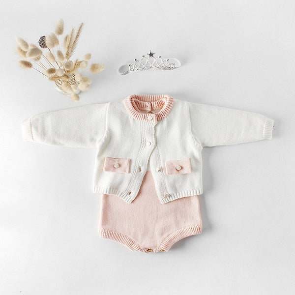 Baby Kate Romper & Sweater Set