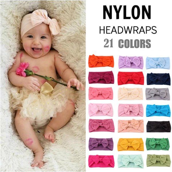 Nylon Knotted Bow Baby Headband