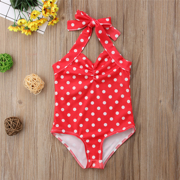Polka Dot Vintage One Piece Bathing Suit