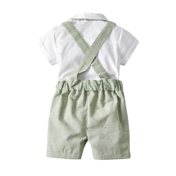 3 Piece Overall Shorts Set