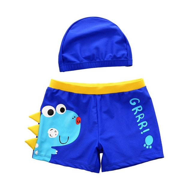 Dinosaur Bathing Suite and Cap