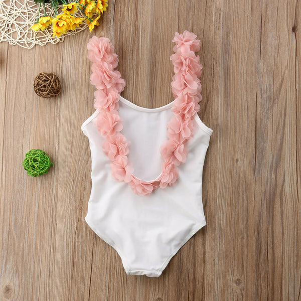 Flower Strap One Piece Bathing Suit