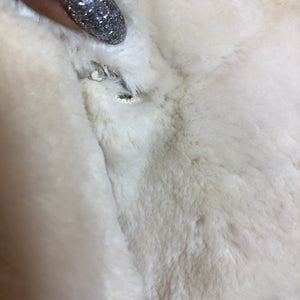 Creamy Fox Fur Coat