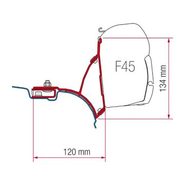 Fiamma Adaptor kit VW T5 Van/Multivan (RHD)