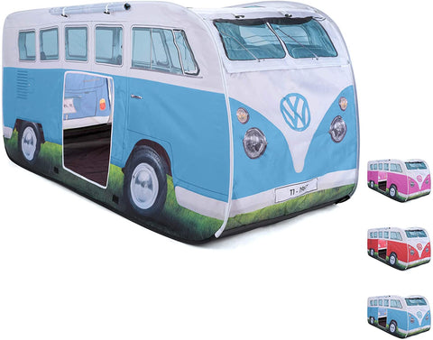 VW CAMPERVAN KIDS POP-UP Play Tent RED or BLUE