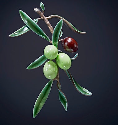 Olive Brooch