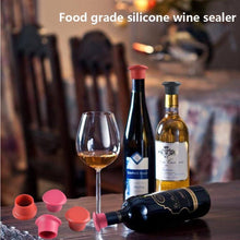 Load image into Gallery viewer, Silicone Wine Stopper (Set of 5)