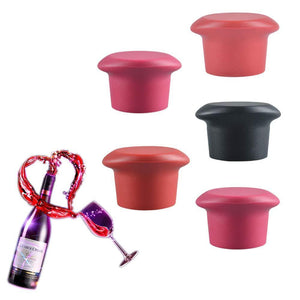 Silicone Wine Stopper (Set of 5)