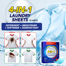 Load image into Gallery viewer, 4-in-1 Laundry Sheets (40 Sheets)