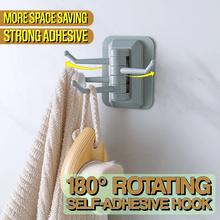 Load image into Gallery viewer, 180° Rotating Self-Adhesive Hook