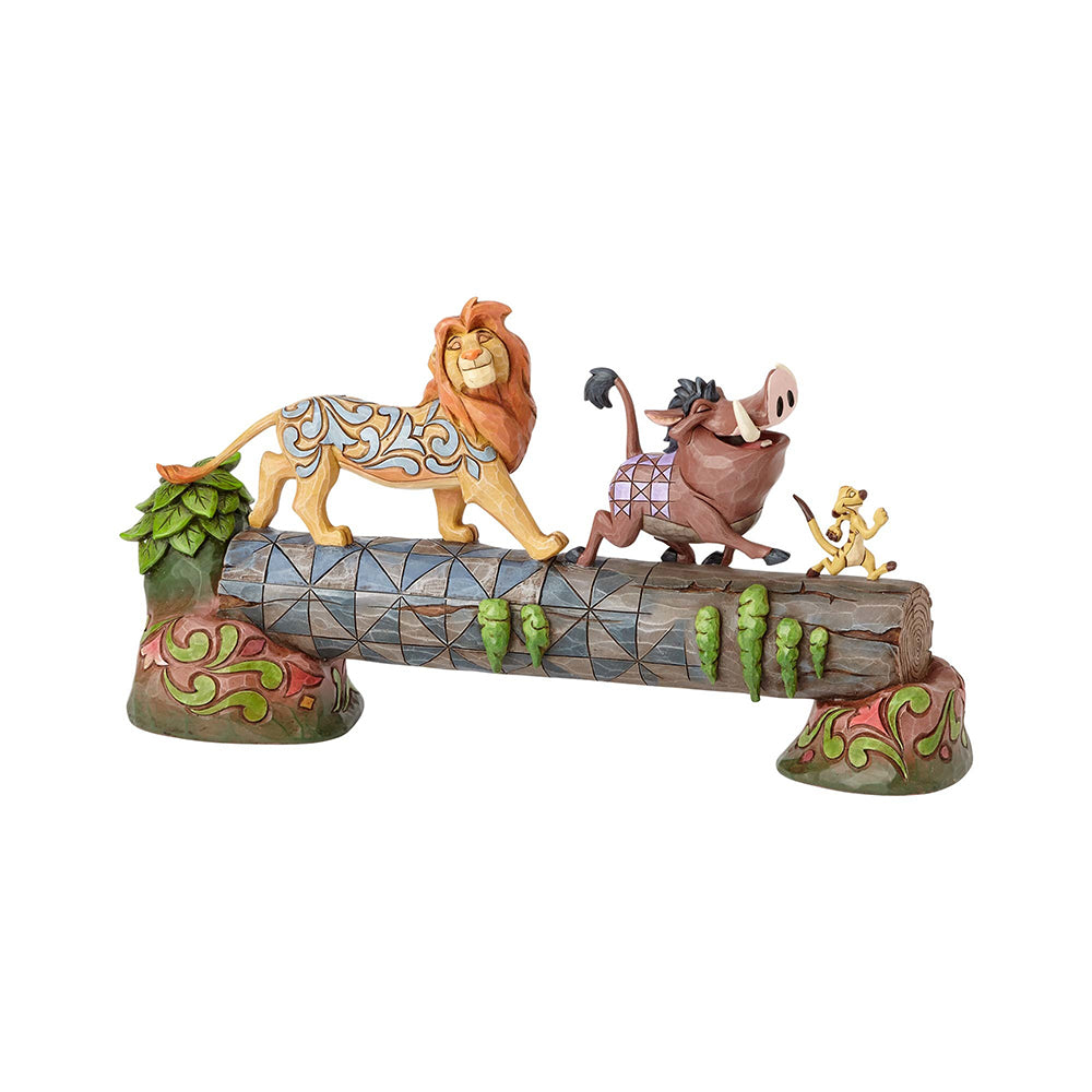 Simba, Timon and Pumba, Carefree Camaraderie | Disney | DISNEY TRADITIONS BY JIM SHORE