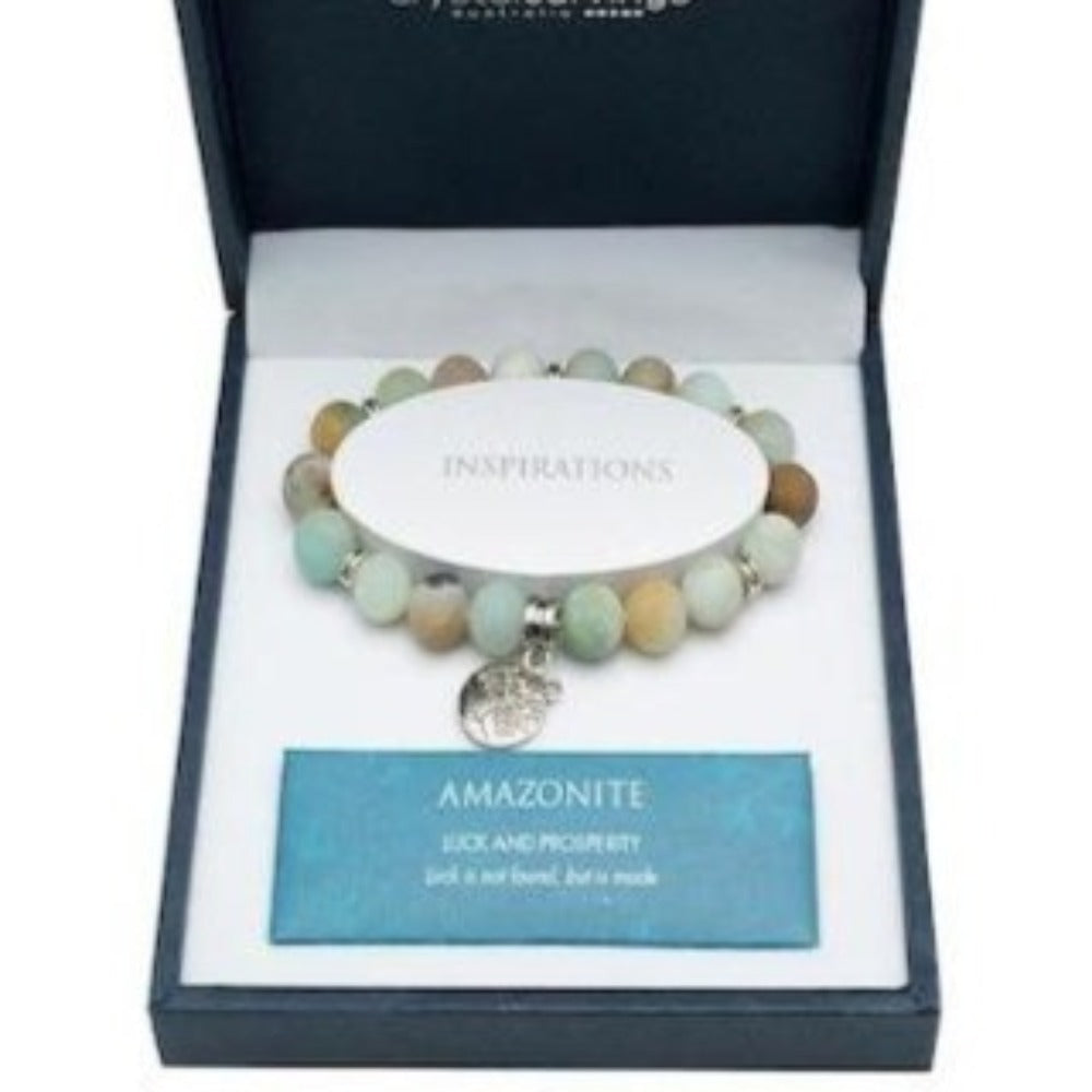 Amazonite | Tree of Life Inspiration | Boxed Charm Bracelet | BRAMBLE BAY