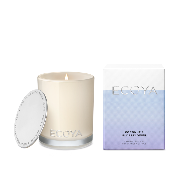 Coconut & Elderflower | 80g Mini Madison Jar Candle | ECOYA