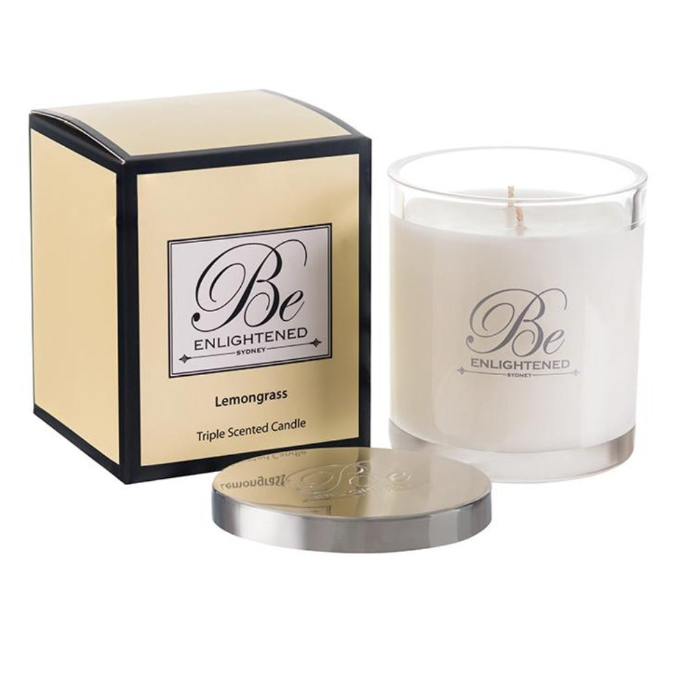 Lemongrass | Elegant Candle 400g | BE ENLIGHTENED