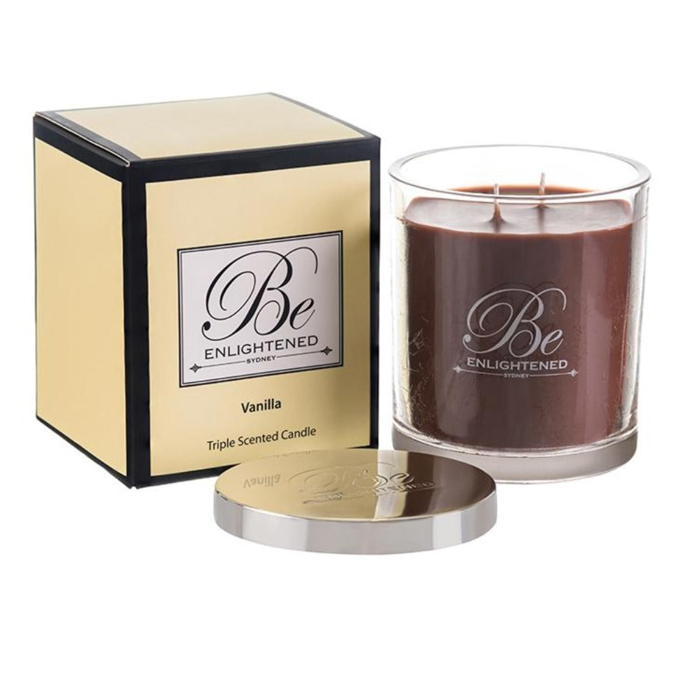 Vanilla | Elegant Candle 400g | BE ENLIGHTENED