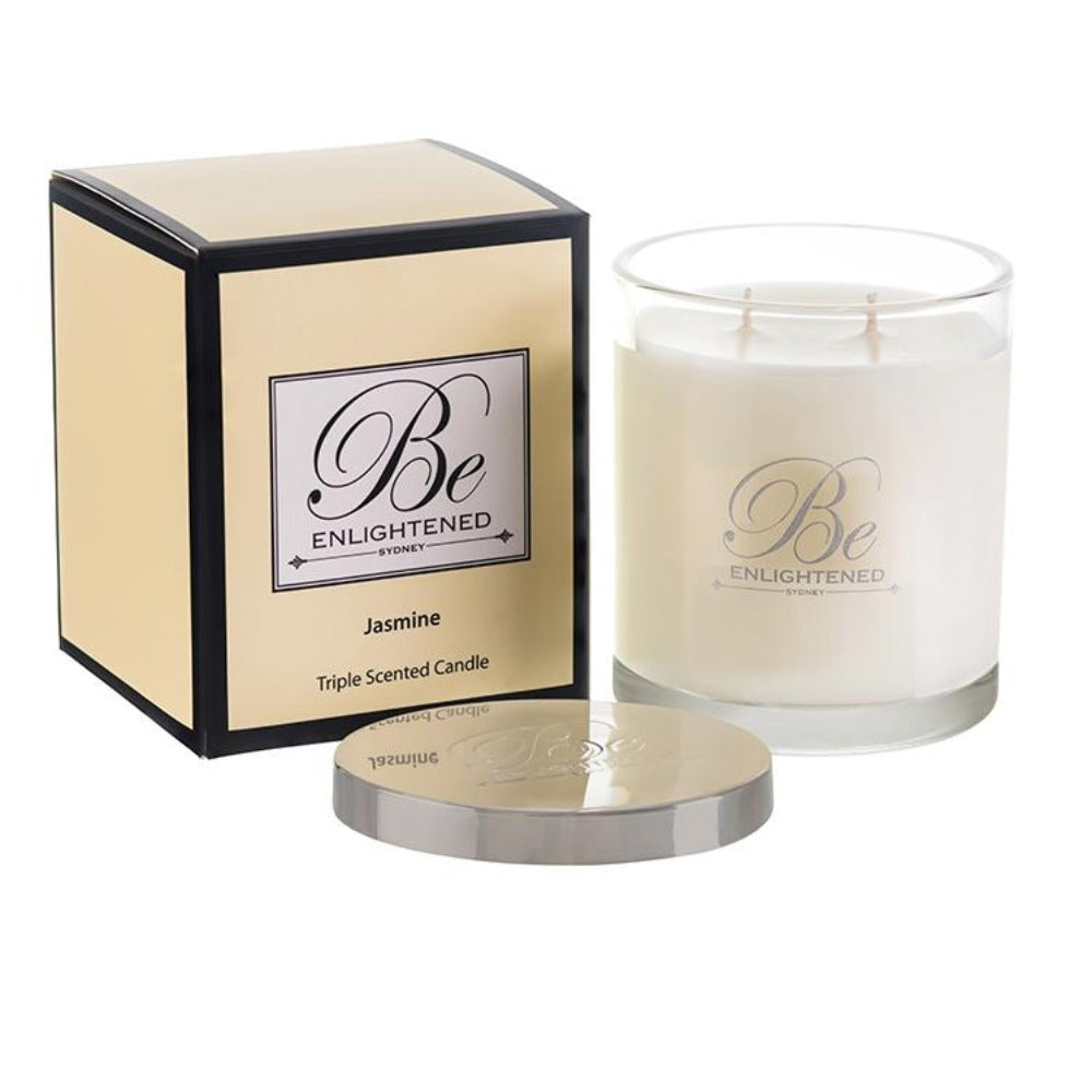 Jasmine | Elegant Candle 400g | BE ENLIGHTENED