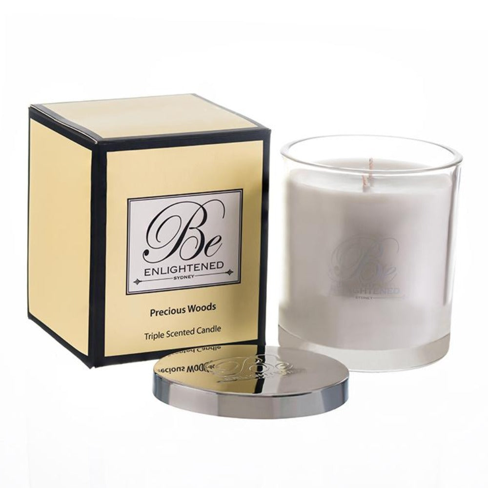 Precious Woods | Elegant Candle 400g | BE ENLIGHTENED