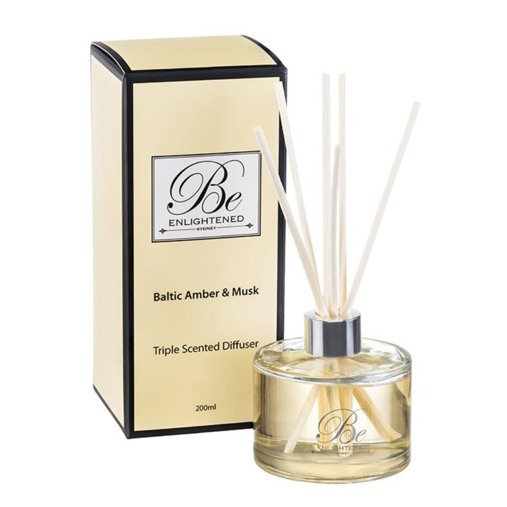 Baltic Amber & Musk | Elegant Diffuser 200ml | BE ENLIGHTENED