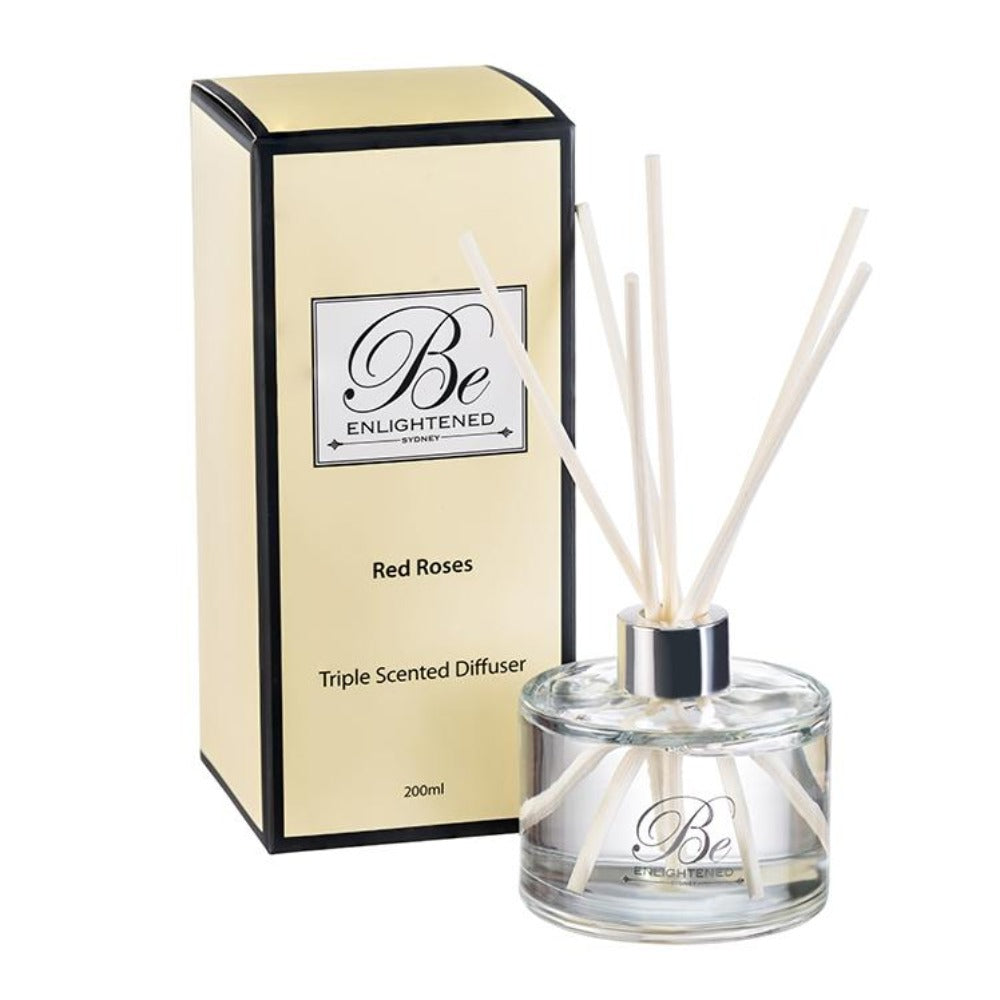 Red Roses | Elegant Diffuser 200ml | BE ENLIGHTENED
