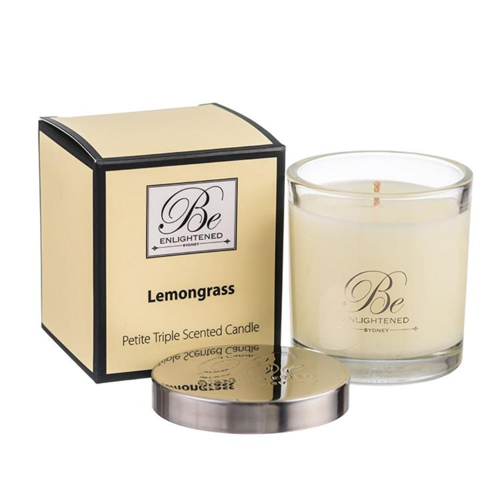 Lemongrass | Petite Candle 100g | BE ENLIGHTENED