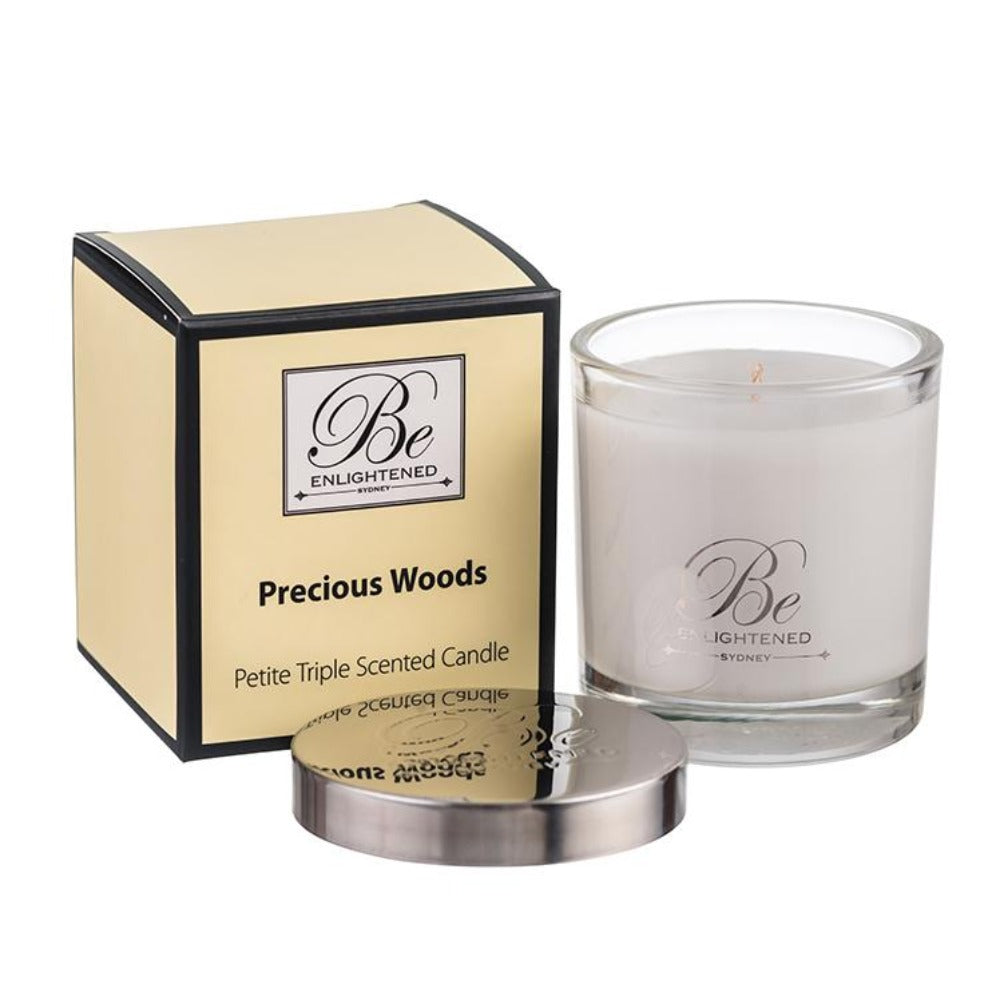 Precious Woods | Petite Candle 100g | BE ENLIGHTENED