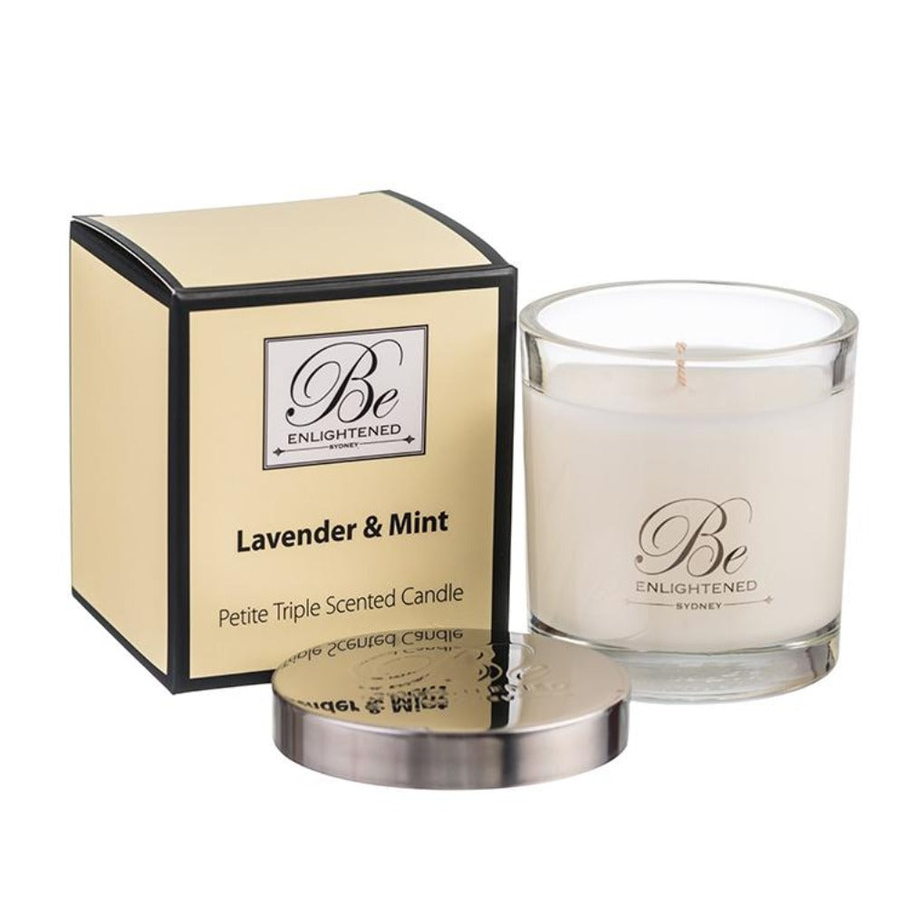 Lavender & Mint | Petite Candle 100g | BE ENLIGHTENED