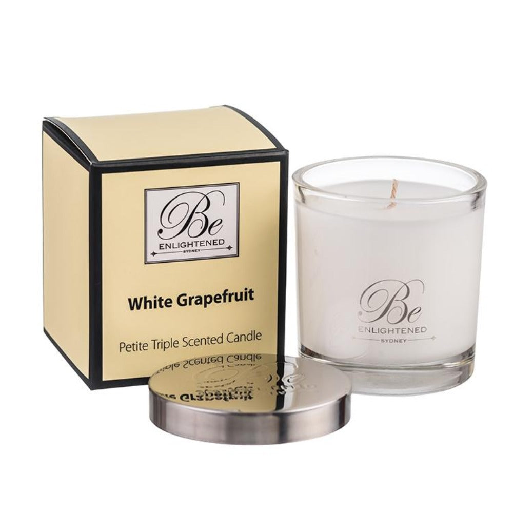 White Grapefruit | Petite Candle 100g | BE ENLIGHTENED