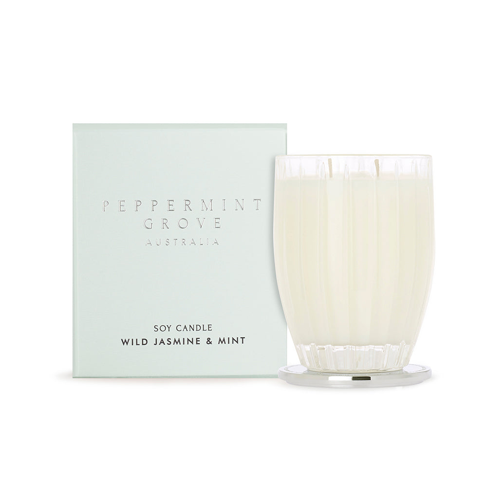 Wild Jasmine & Mint | Candle 350g | PEPPERMINT GROVE