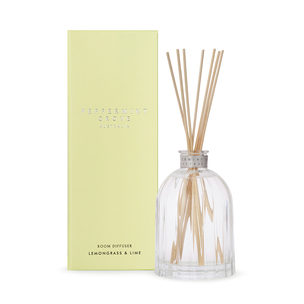 Lemongrass & Lime | Diffuser 350ml | PEPPERMINT GROVE
