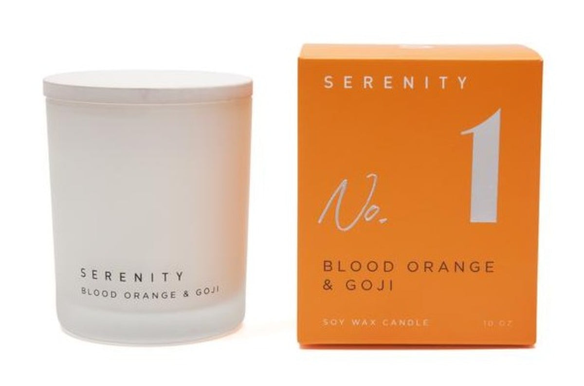 SIGNATURE - BLOOD ORANGE & GOJI | Candle 10 Oz | SERENITY