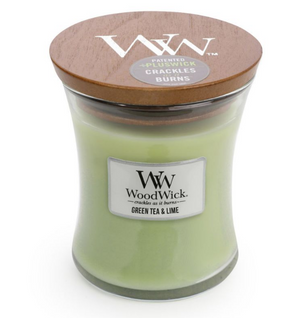 WoodWick Green Tea & Lime Medium