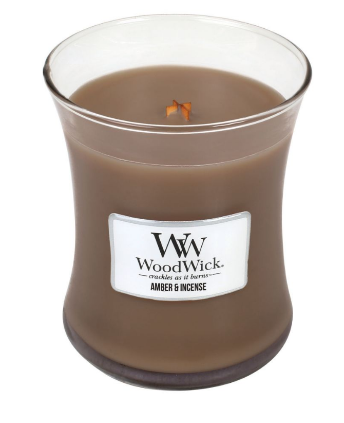 WoodWick Amber & Incense Medium