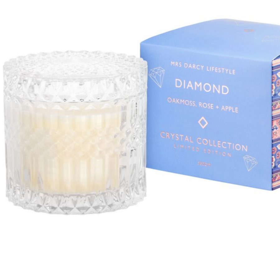 CANDLE DIAMOND - OAKMOSS, ROSE + APPLE (LIMITED EDITION)