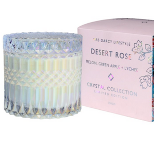 CANDLE DESERT ROSE - MELON, GREEN APPLE + LYCHEE (L/E)