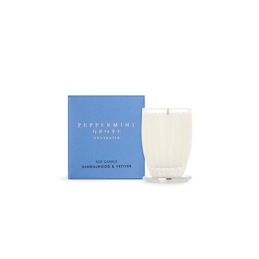 SANDALWOOD & VETIVER SMALL CANDLE 60G